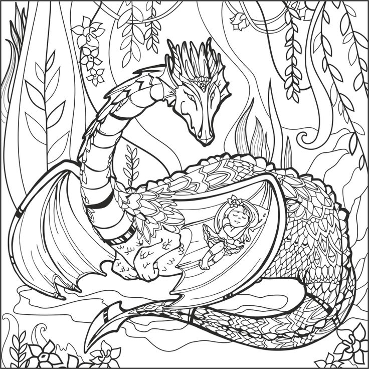 787 best Fantasy Coloring Pages