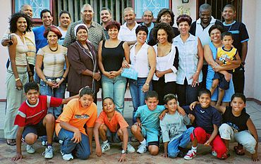 Human skin color in any given family can be quite diverse. Intermarriages of people blending race, religion, cultures, and countries is more common as technology and travel shrink the world.