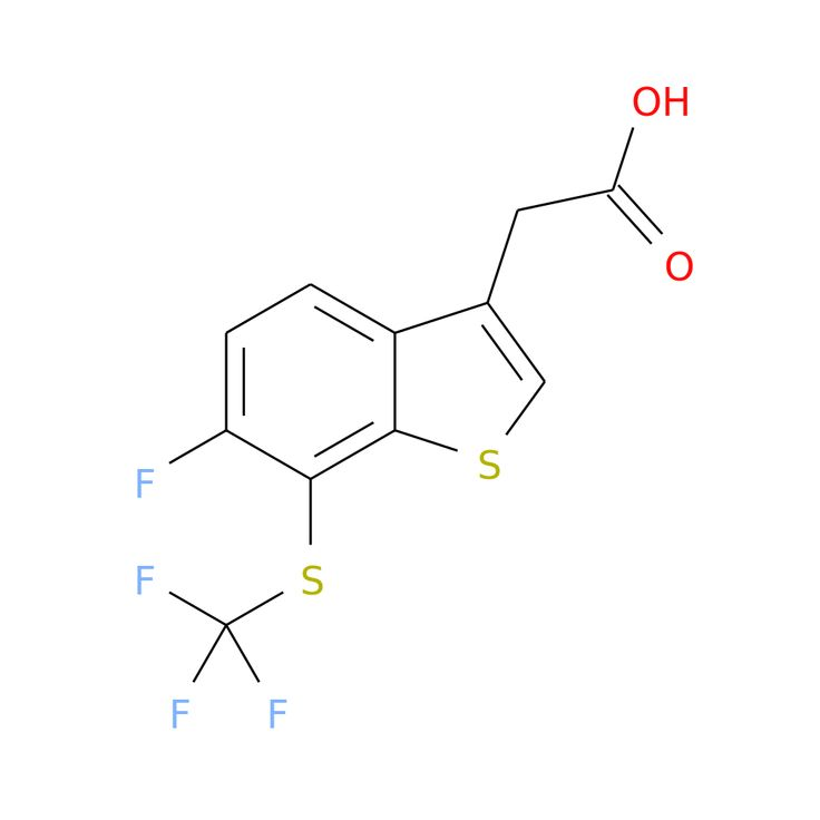 6-FLUORO-7-(TRIFLUOROMETHYLTHIO)BENZOTHIOPHENE-3-ACETIC ACID is now  available at ACC Corporation