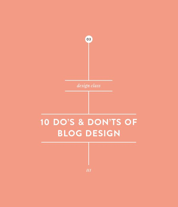 10 Do's and Don'ts of blog design || Betty Red Design