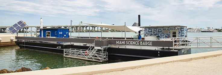 The Miami Science Barge is a solar-powered floating science laboratory teaching kids about sustainability and environmental innovation.