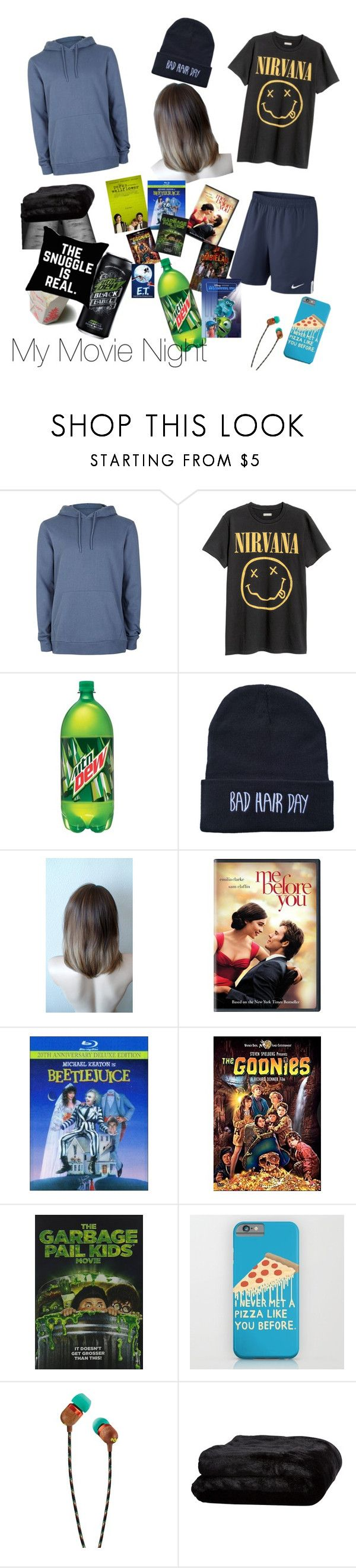 """My movie night outfit"" by mountaindewqueen15 ❤ liked on Polyvore featuring Topman, NIKE, Coleman, INC International Concepts, The House of Marley and Olivier Desforges"