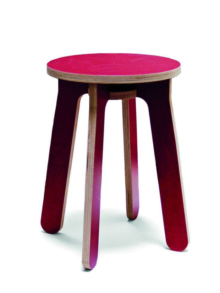 Monovis, 2013stool made out of 6x cnc milled 18mm plywood pieces, 1x screw (wingnut or hex key)Fabricated on demand, different colors of plywood available.