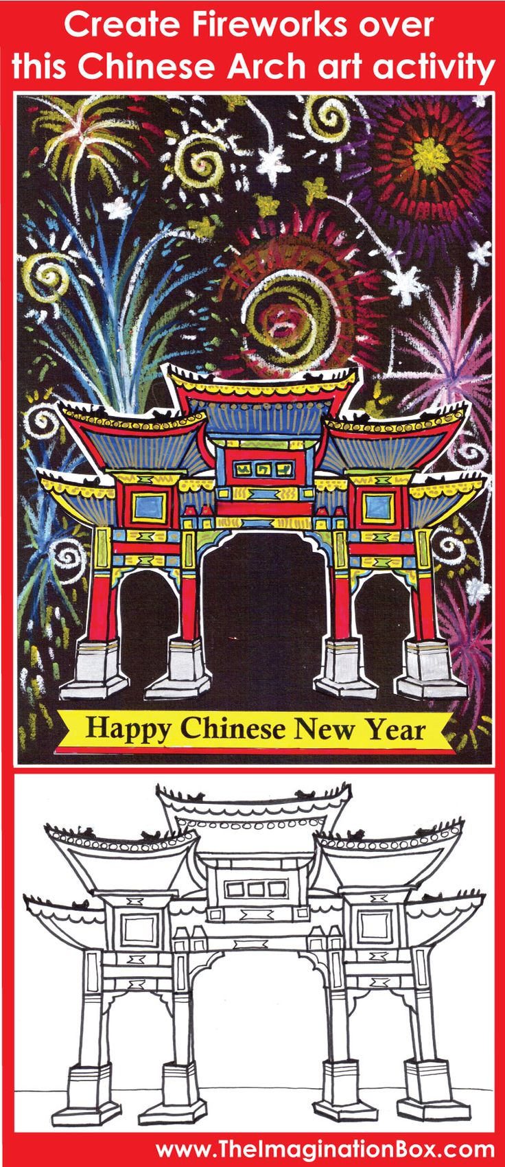 Chinese New Year Activity - fireworks and lanterns art activity