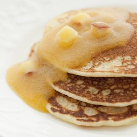 Ricotta Pancakes with Nectarine Sauce, a recipe from the ATCO Blue Flame Kitchen.