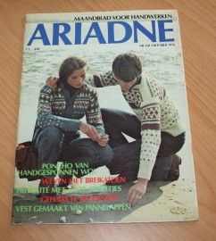 ARIADNE Maandblad voor handwerken, tijdschrift nr. 358 van oktober 1976 met werkblad