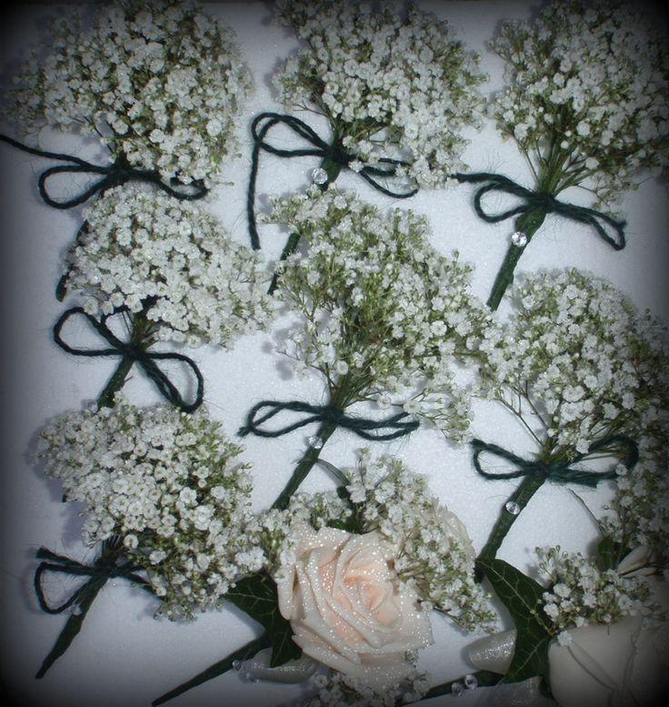 Gypsophila buttonholes...simple but beautiful