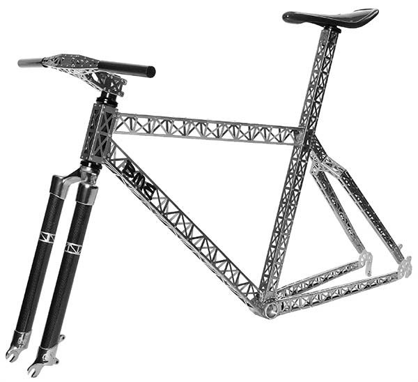 Oh my god, imagine getting the mud out of this! Titanium Riveted MTB Frame :: BME