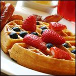 I've been making these waffles for years, in triple batches. Light and crispy, and best of all 100% whole wheat!