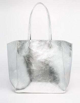 Bolso shopper metalizado de ASOS