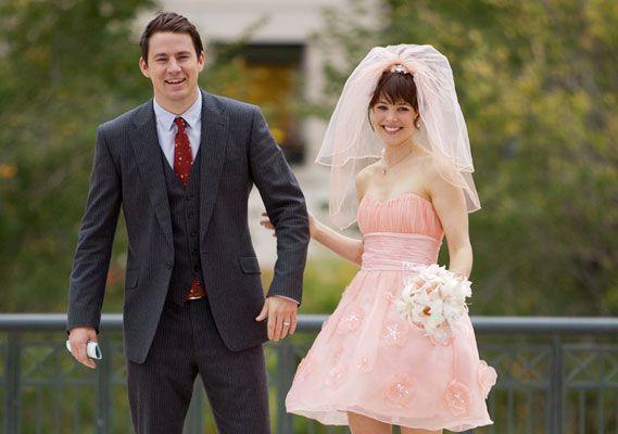 "Rachel McAdams pink wedding dress in ""The Vow"""