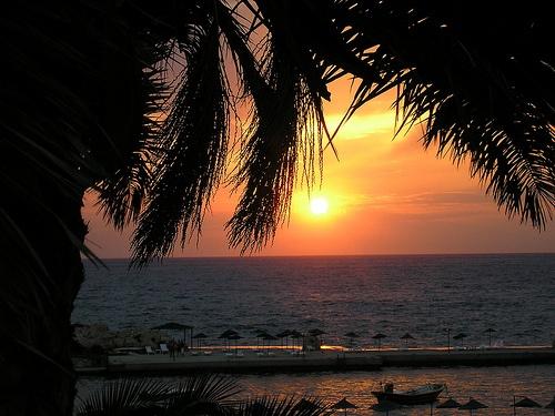 Sunset - Ladies Beach, Kusadasi, Turkey