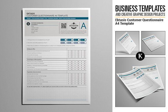 Ektasis Customer Questionnaire A4 Graphic Design Templates