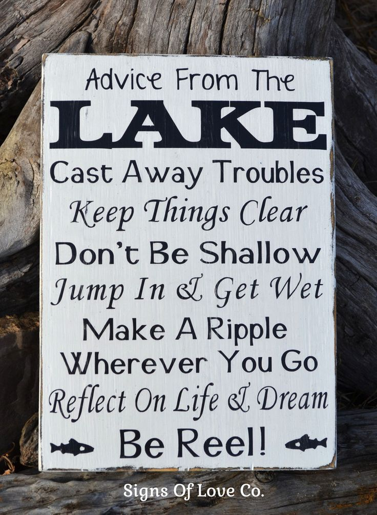 Advice From A Lake Sign Lake House Decor Lakeside Living