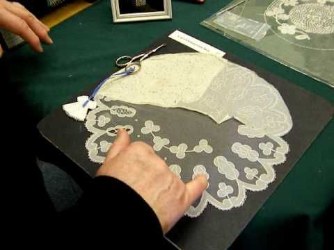▶ Carrickmacross Lace Demonstration by Nora Finnegan - YouTube