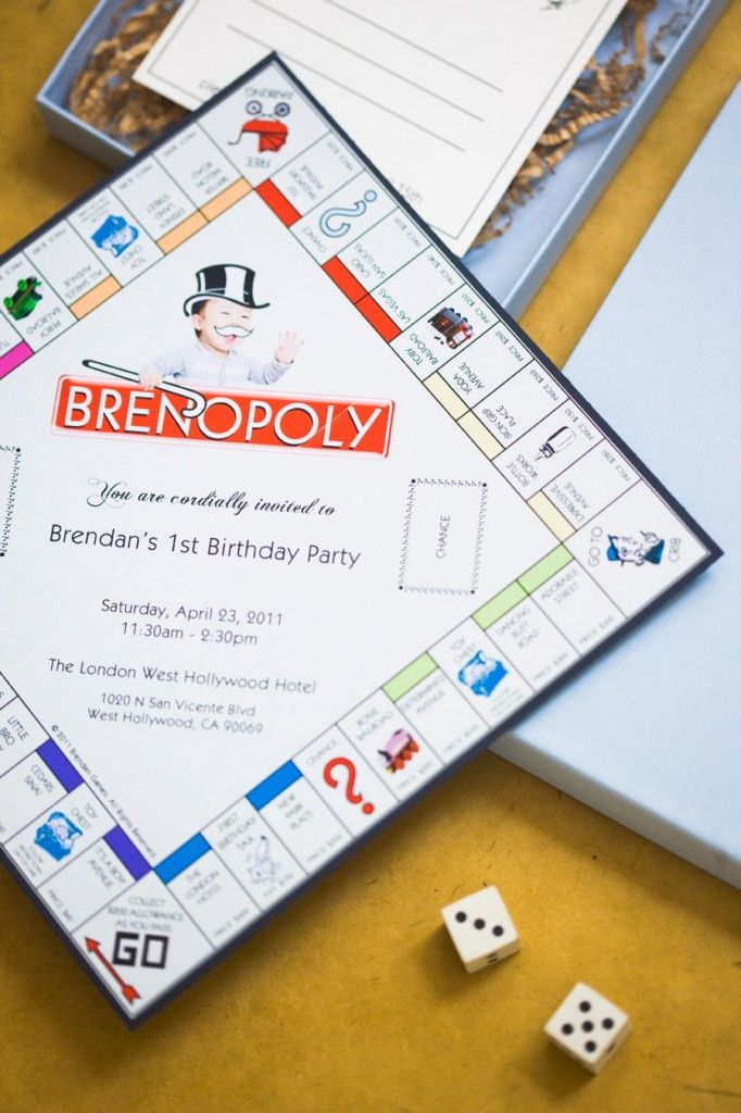 Monopoly birthday party. very cute ideas