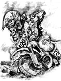 Simbolos Arte Motos Enduro Motos Dibujos Y Motos De Carreras