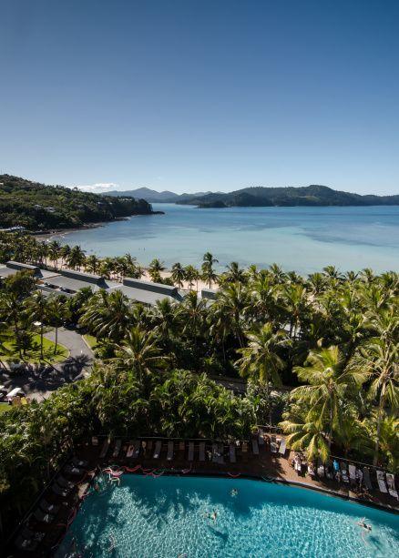 Hamilton Island, Queensland, Australia - Looking towards Catseye Beach from the Reef View Hotel