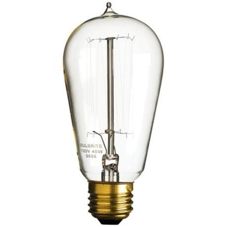 1910 Edison Style 40 Watt Light Bulb -