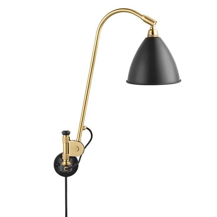 Bestlite BL6 Vegglampe, Messing/Svart, Gubi