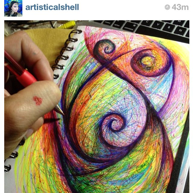What happens when you doodle  :-)  #art #journal