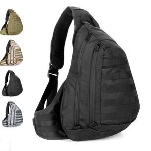 Field Tactical Chest Sling Pack Outdoor Sport A4 One Single Shoulder Man Big Large Ride Travel Backpack Bag Advanced Tactical * $24.91