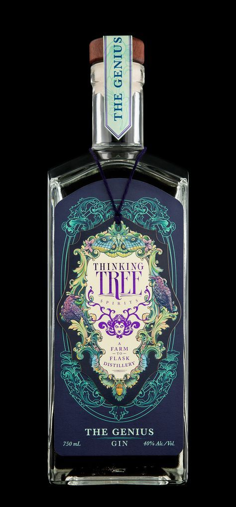Hired Guns Creative created an interactive packaging experience for Thinking Tree Spirits. They took inspiration from the playful exuberance of storybooks and Rococo scrollwork, while successfully evoking the lush bounty of Oregon.
