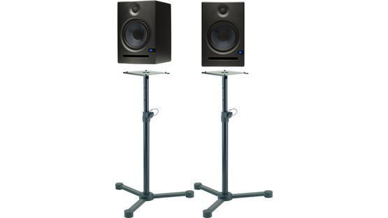 PreSonus Eris Studio Speaker and Stand Bundle Includes a pair of studio monitors and adjustable stands