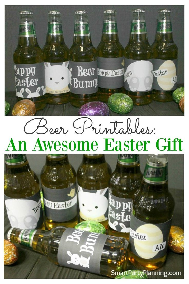 Printable beer labels make a perfect DIY Easter gift for those wanting to avoid chocolate this Easter!  If you are stuck for some gift ideas for your man, then these could be just the thing you are looking for.  They are easy to use and look fantastic on his favorite 6 pack! #Easter #Printable #Beerlabels #Eastergift