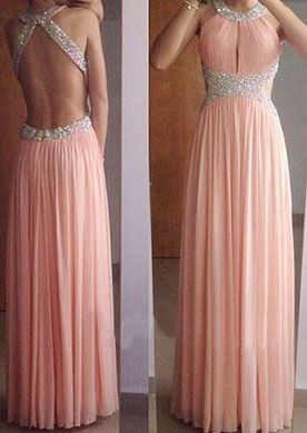 Pink Sexy Prom Dresses,Long Evening Dresses,A-Line Prom Dresses