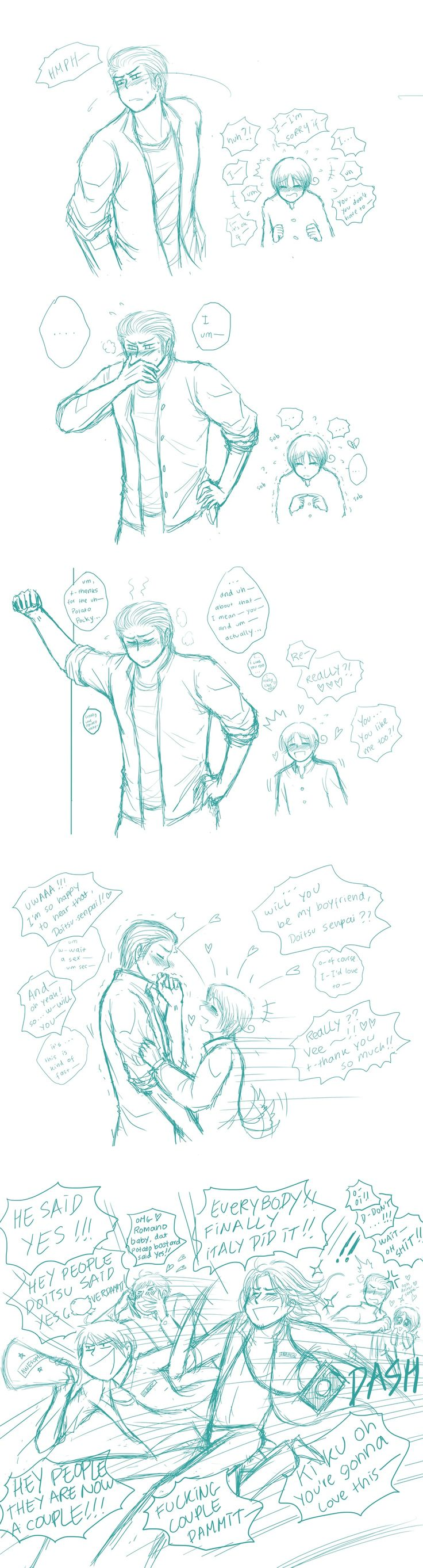 APH- SAY YES by ~kuroneko3132 on deviantART -Okay so I don't ship GerIta but this is adorable...