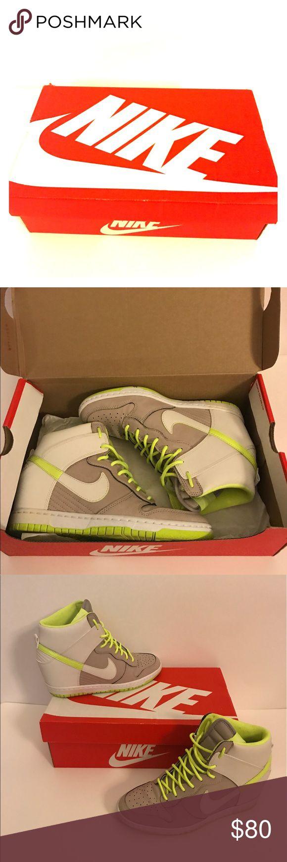 Nike Wedges Sneakers Neon Nike Wedges sneakers. Heeled sneakers worn twice! Nike Shoes