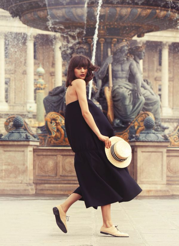 fashion, style, black, dress, hat,