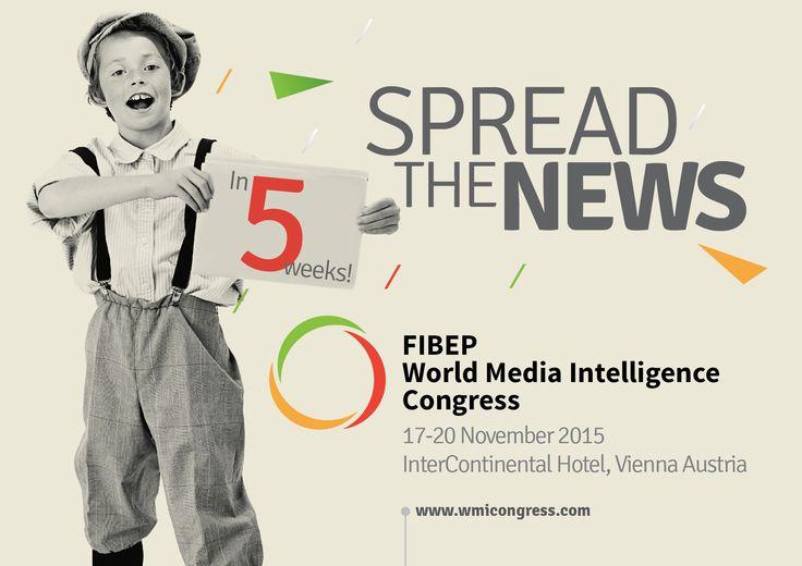 5 weeks until the #_FIBEP #WMIC15 in #Vienna, 17-20 November, 2015.