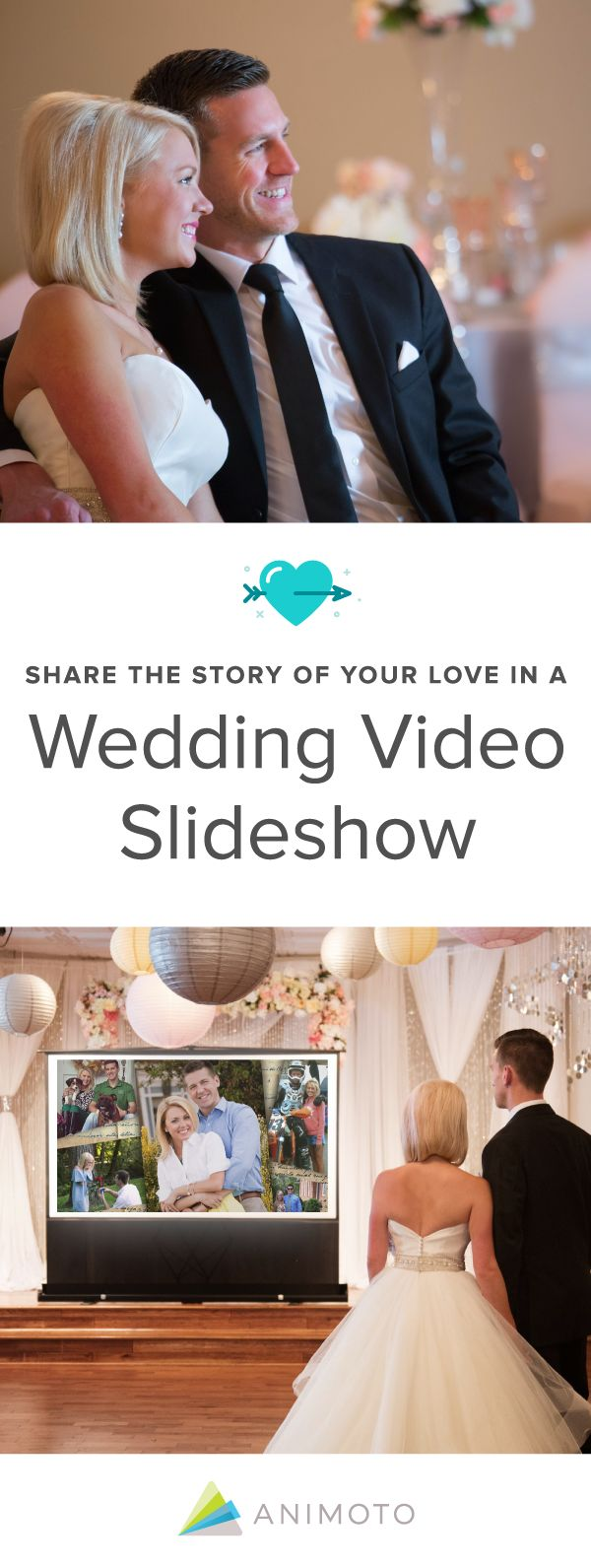Share the story of your love in a wedding video slideshow.