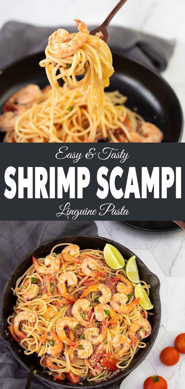 Your lunch or dinner will be ready in just 30 minutes with this shrimp scampi li…