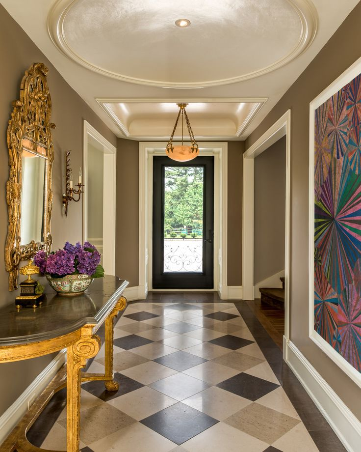 25 best ideas about ornate mirror on pinterest floor for Front foyer tile designs
