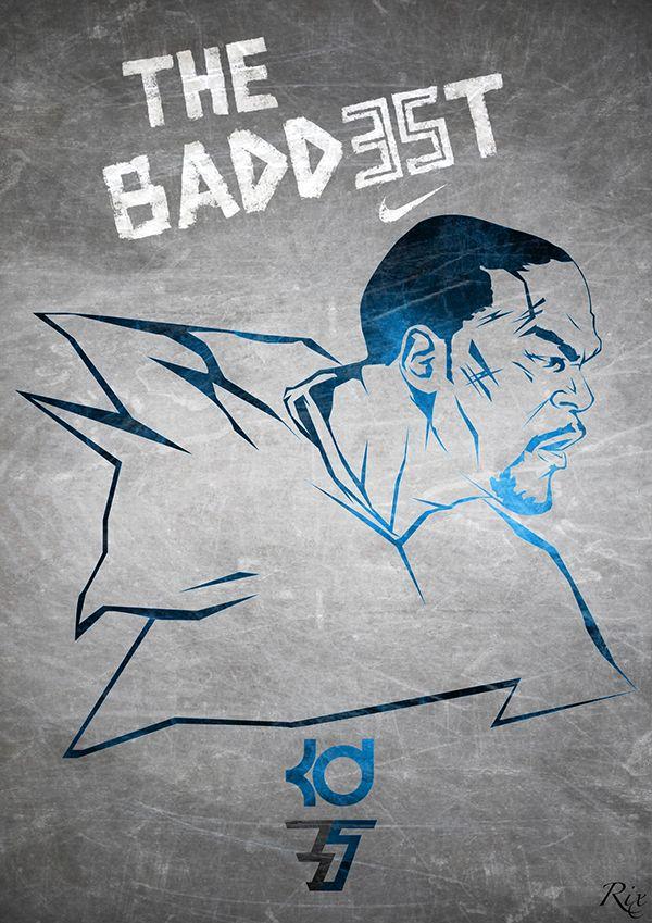 """THE BADDEST"", KD7 by Riccardo Ferro, via Behance"