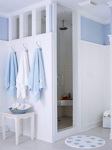 bathroom tour blue white cottage style bathroom ideas rh pinterest com