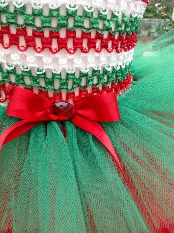 Christmas Elf Tutu Dress by PrincessRaeDresses on Etsy