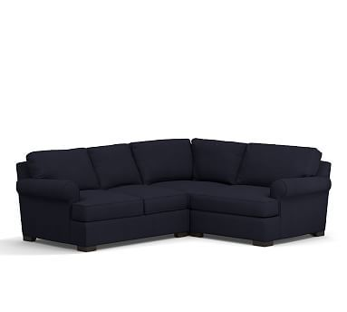 Townsend Roll Arm Upholstered Left Arm 3-Piece Corner Sectional Polyester Wrapped Cushions  sc 1 st  Pinterest : townsend sectional - Sectionals, Sofas & Couches