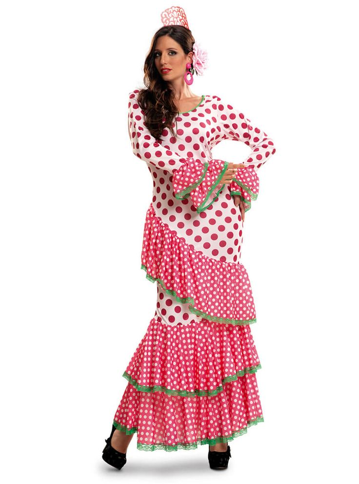 Disfraz de sevillana clásica talla grande para mujer