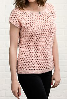 Ravelry: Just Peachy. Simple treble cluster crochet top!