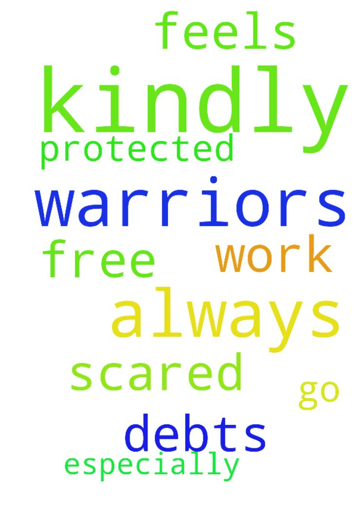 Dear Prayers warriors kindly pray for me that I be - Dear Prayers warriors kindly pray for me that I be free from debts and that I be protected always especially at work where I always feels scared to go to. I am praying in Jesus Christ Name Amen. Posted at: https://prayerrequest.com/t/JBM #pray #prayer #request #prayerrequest