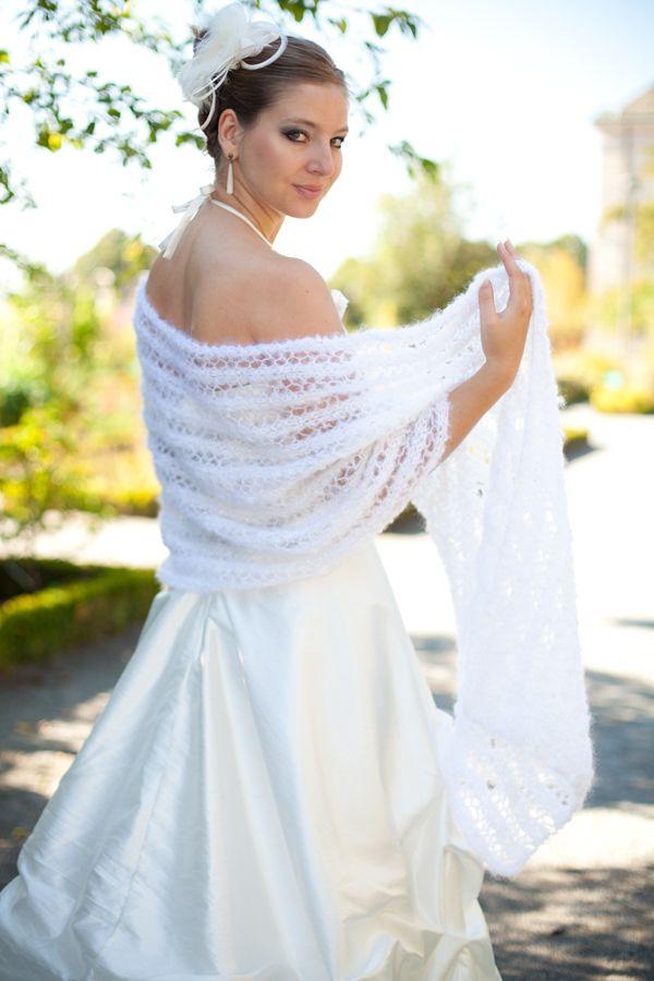 etole mariage mohair et soie 108 laine certifie ecocert et artisanat franais - Etole Mariage Soie