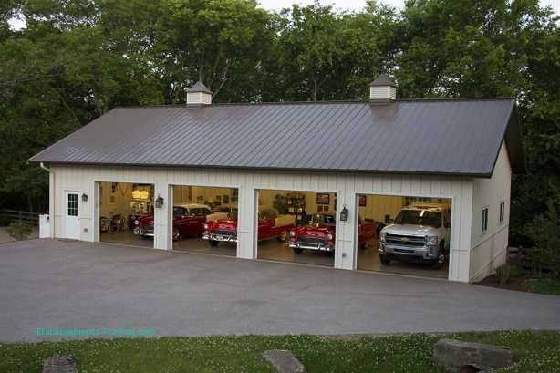 As You Can See It S Easy To Create A Good Detached Garage And In The End It Will Provided You With Some Real Metal Garage Buildings Hobby Garage Garage Decor