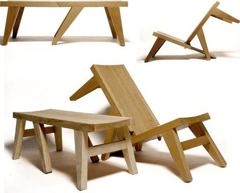 elegant-folding-outdoor-bench-design #wow