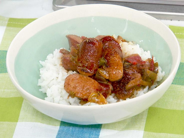 """Sunny's Quickest Sausage """"Gumbo"""" Ever recipe from Sunny Anderson via Food Network Use seafood broth and add shrimp at the end."""