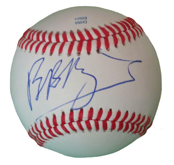 Brian Baumgartner Autographed Rawlings ROLB1 Leather Baseball, Proof Photo