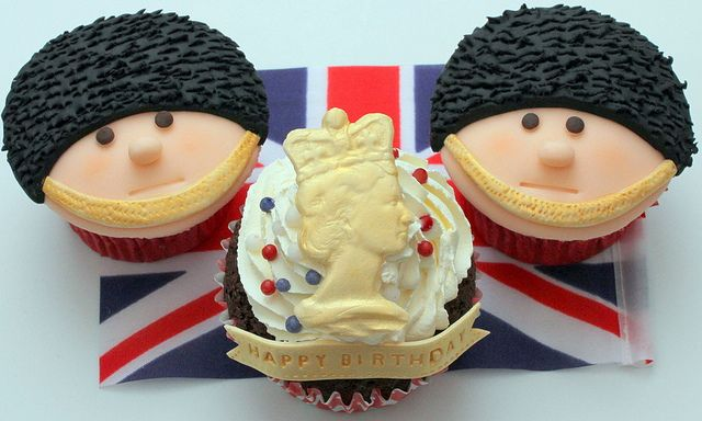 Queen's Birthday Cupcakes- Well, we better throw these in too while we're at it.